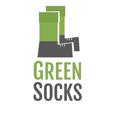logo for a startup, GreenSocks logo, startup logo design, Richard Eastes logo
