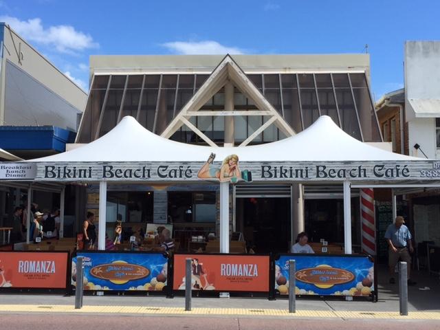 Bikini Beach Cafe, Redcliffe, Brisbane, GreenSocks, lawn mowing in redcliffe