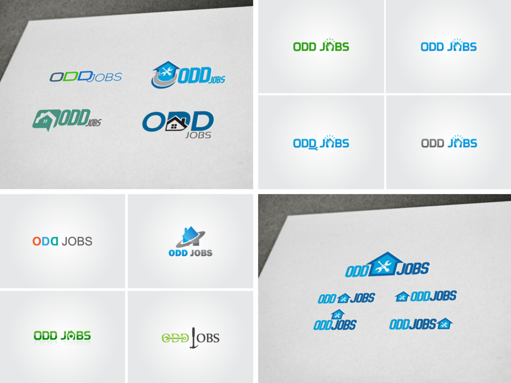 logo for a startup, Odd Jobs logos, GreenSocks, fiverr logos, how much does it cost for a logo?
