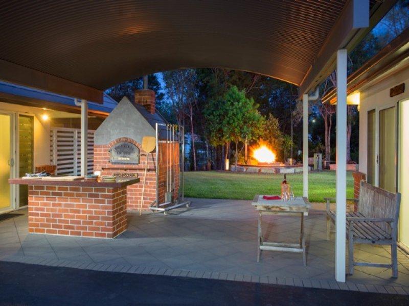 Bridgeman Downs - Fireplace in Backyard