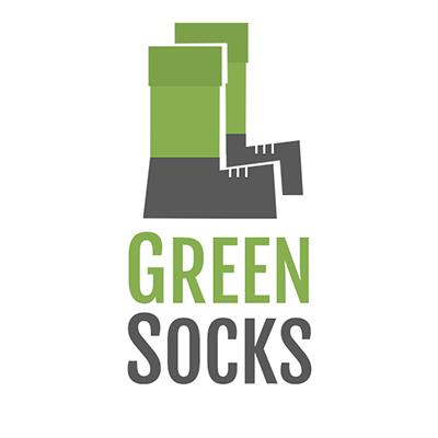 logo for a startup, GreenSocks logo, startup logo design, Richard Eastes logo
