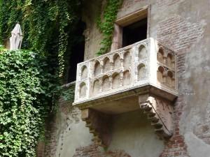 The famous balcony of Romeo and Juliet in Verona, Italy, Shakespeare handyman tools