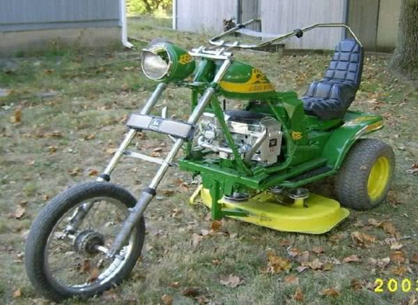 Super cool lawn mowers - the John Deere Chopper Mower Trike