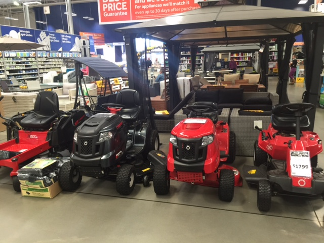 Ride on Mower for Morayfield acreage, at Masters Home Improvement © GreenSocks