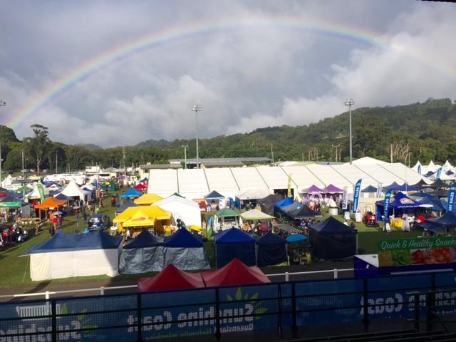 Rainbow over Queensland Garden Expo 2015 © GreenSocks
