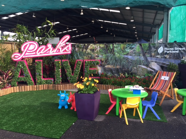 Parks Alive display at Queensland Garden Expo 2015 © GreenSocks