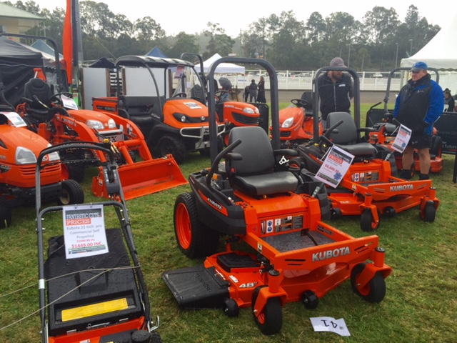 Lawn mowers from the David Evans Group at the Queensland Garden Expo 2015 © GreenSocks