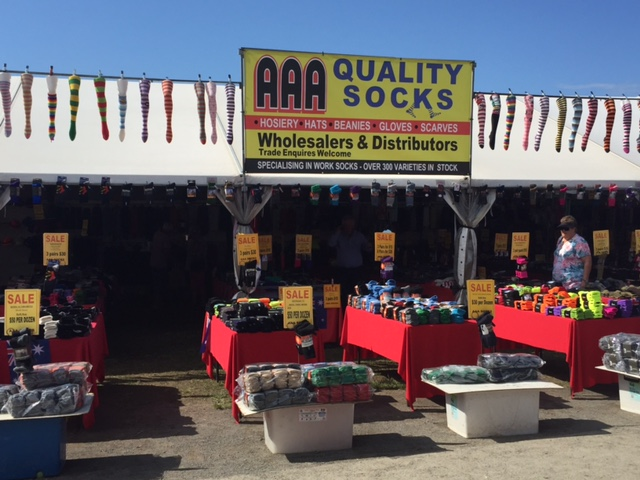 Thousands of green socks at the Farm Fantastic Expo © GreenSocks