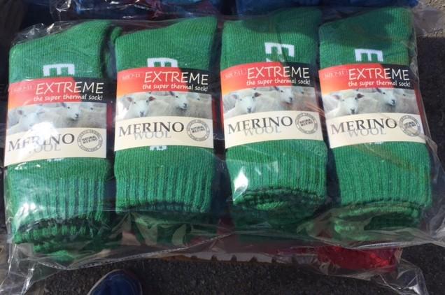 Handy packs of green socks at the Farm Fantastic Expo © GreenSocks