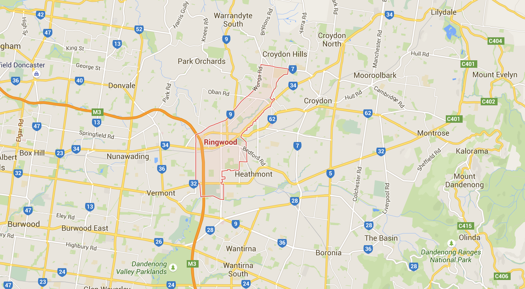 Wherever you live in Ringwood or beyond, we can help organise your lawnmowing! Image credit: Google Maps