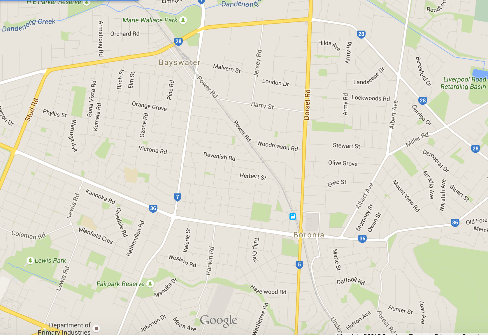 Where would you like lawn mowing in Boronia? Google Map