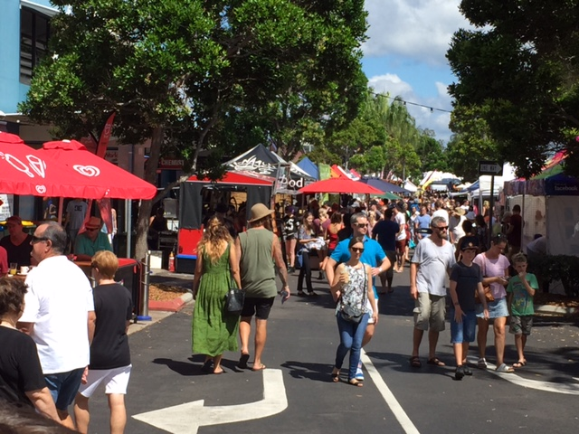Ocean St Markets, Maroochydore, Sunshine Coast © GreenSocks