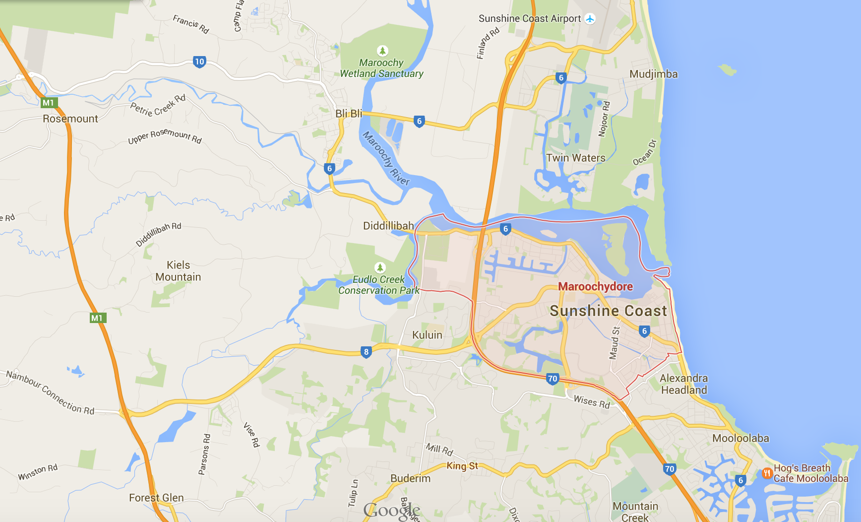 Where would you like your Maroochydore lawn mowing? Google Map 2015