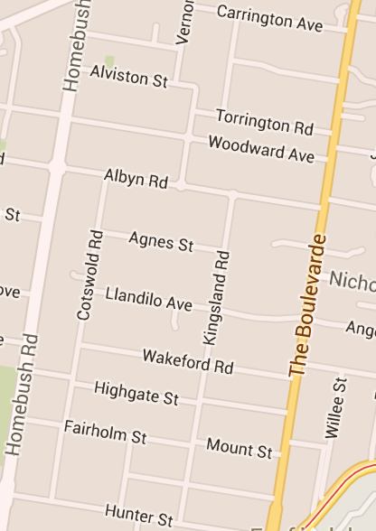The Golden Mile in Strathfield NSW (Image credit: Google maps)