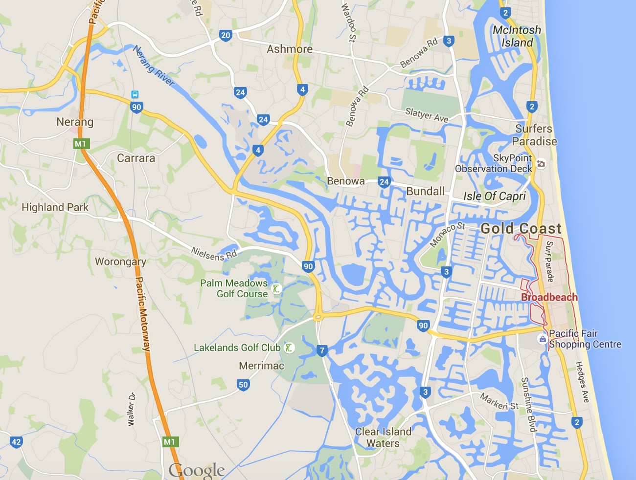 Need some Broadbeach lawnmowing? (Image credit: Google Maps)