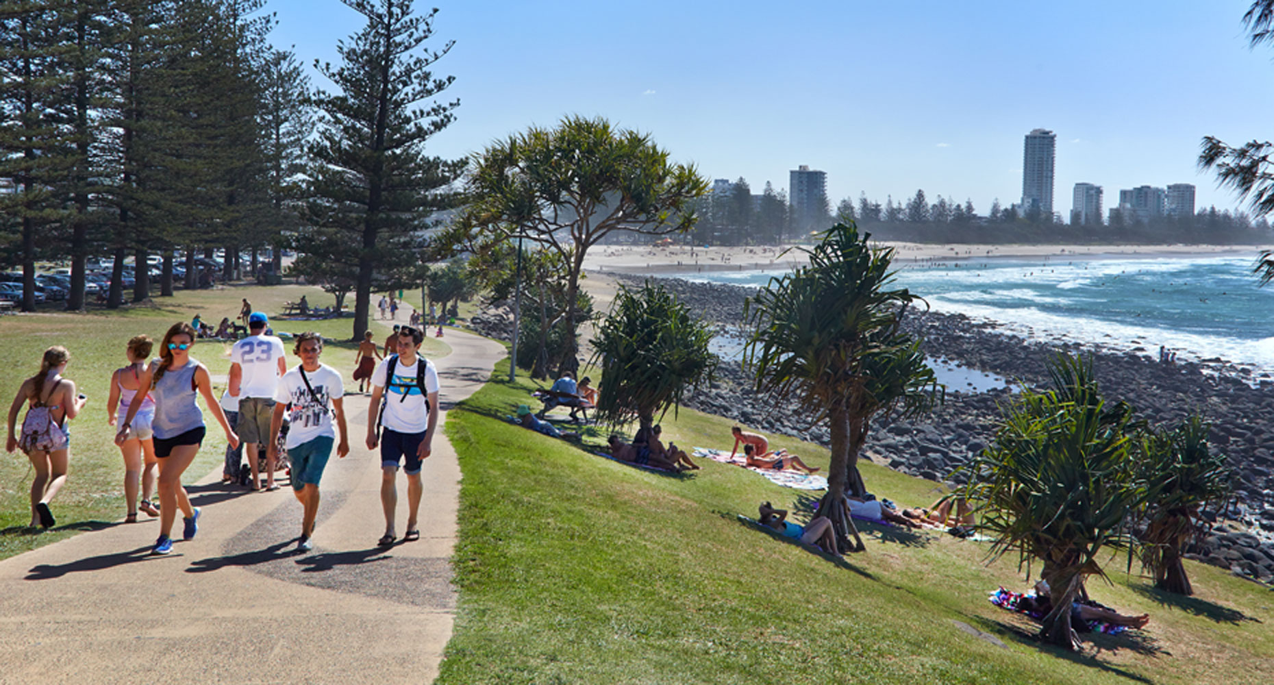 The Burleigh Heads lawn with the best view in town! Image credit: RealEstate.com.au