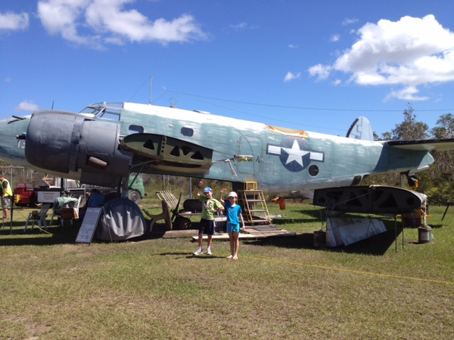 Aircraft on the lawn at the Queensland Air Museum, Caloundra, Sunshine Coast, Queensland © GreenSocks