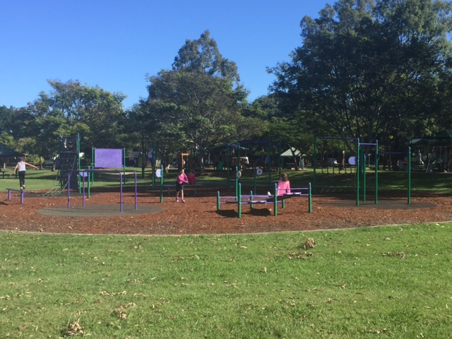 Why not exercise in Mulbeam Park, Boondall, while we get your lawn mowed? © GreenSocks