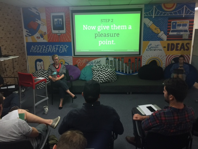 Noelle Greenwood at River City Labs Accelerator © GreenSocks