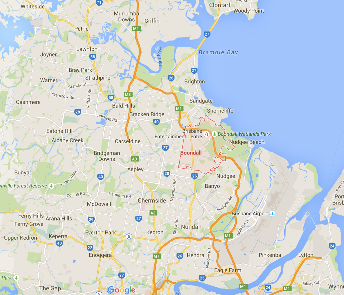 Need some lawn mowing in Boondall or surrounding Brisbane suburbs? (Image credit: Google Maps)