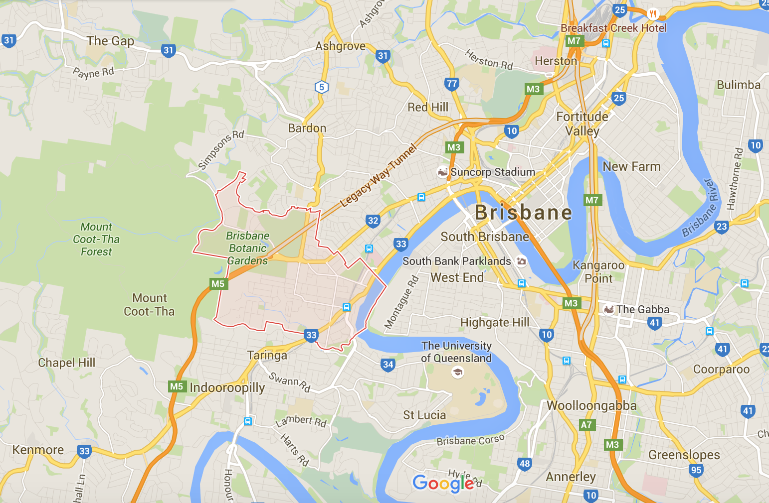 Google map for Toowong mowers