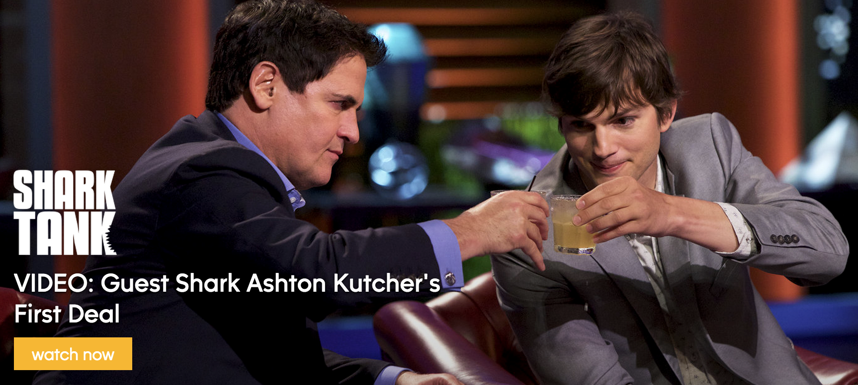 Mark Cuban and Ashton Kutcher on Shark Tank America (Image credit: ABC.com)