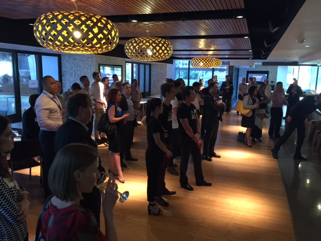 Telstra Brisbane meets the River City Labs accelerator teams © GreenSocks