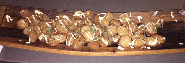 MMmmm.... Arancini balls... awesome catering from Telstra Brisbane