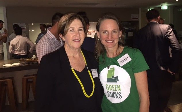 Telstra's Jane Donnelly and GreenSocks' Andrea Martins © GreenSocks