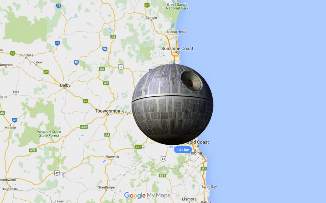 Death Star with Brisbane for Scale