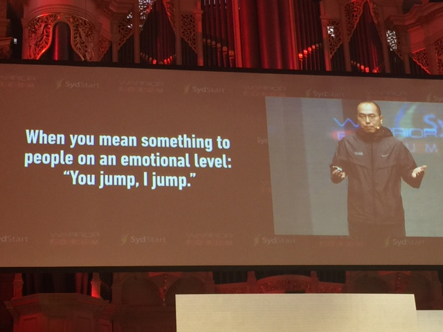 Ray Chan from 9GAG at Warrior Forum Sydney 2015 © GreenSocks