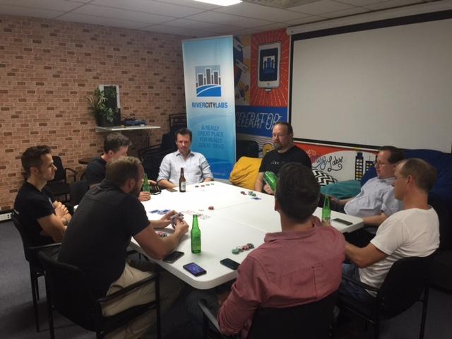 Investors Vs Startups Poker Night at River City Labs © GreenSocks