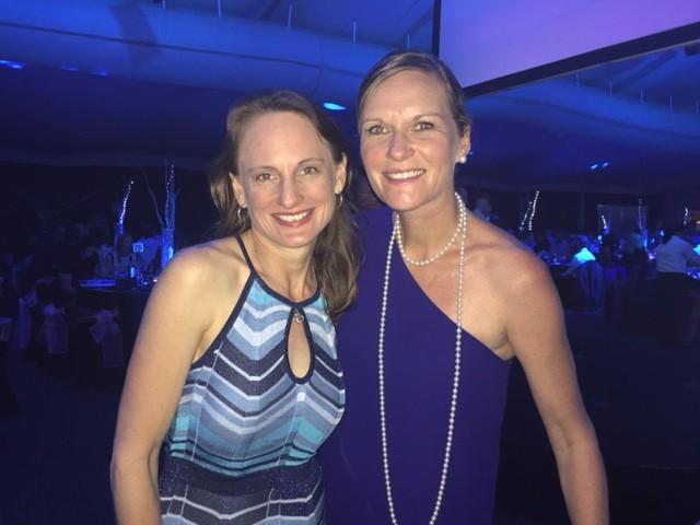 Andrea Martins and Maya Gurry at Sunshine Coast Business Awards 2015 © GreenSocks