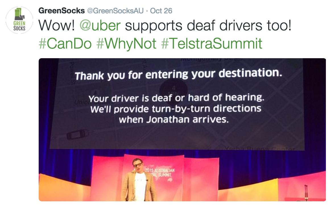 Uber at Telstra Digital Summit Sydney 2015