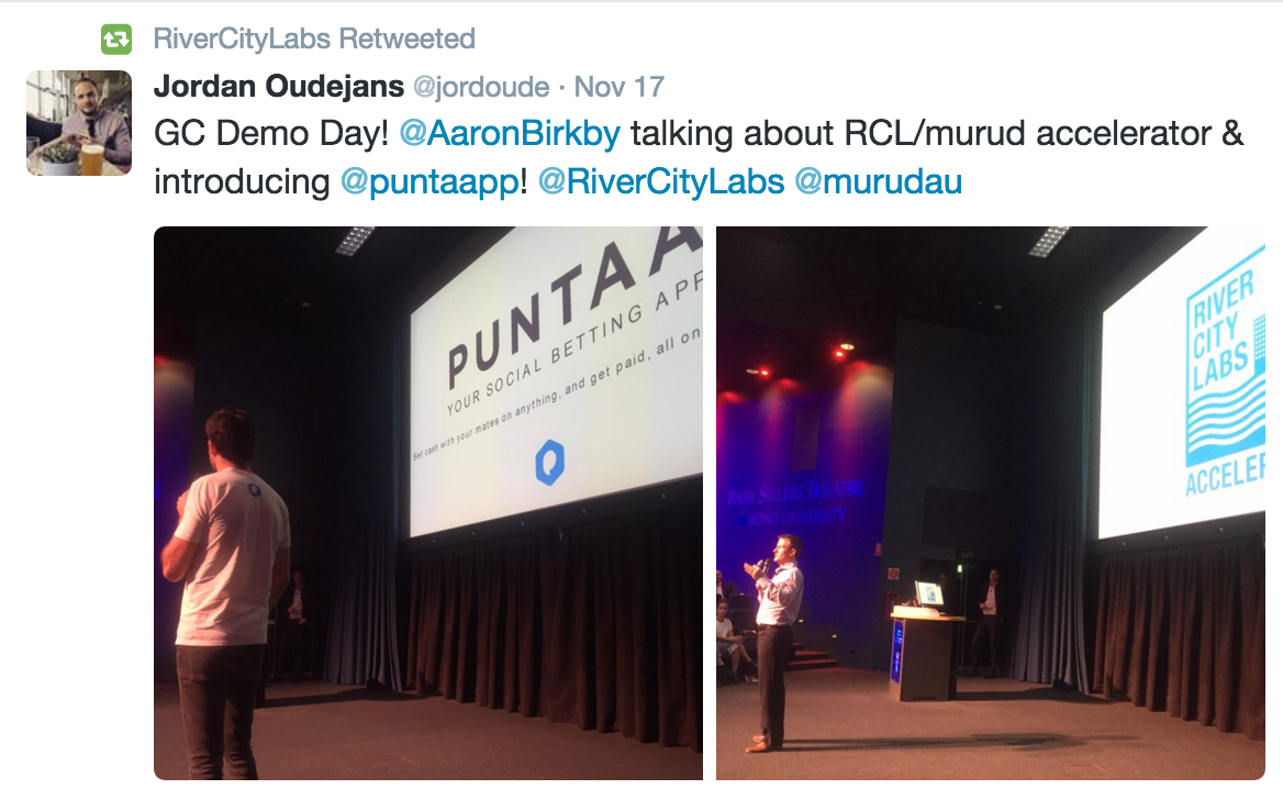 Puntaa at Gold Coast Demo Day