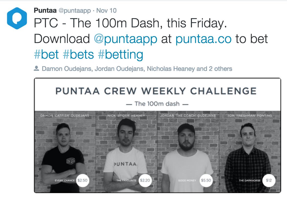 The Puntaa Sprint Challenge