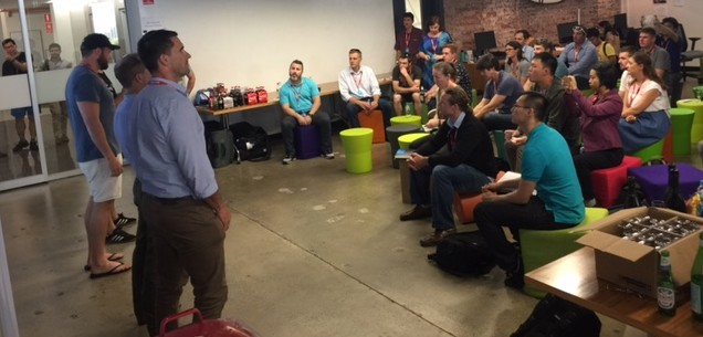 River City Labs Accelerator teams pitching to Innovation Teams from ABC © GreenSocks