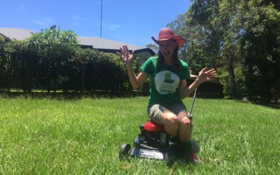 Why we jumped for a Brisbane Lawn Mowing Photoshoot