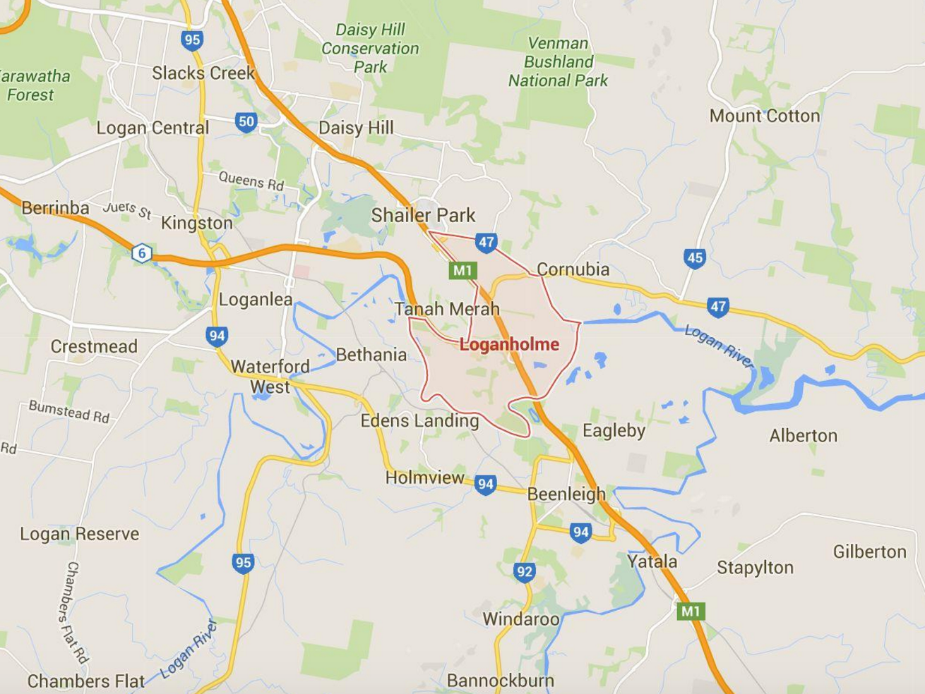 Want to know lawn mowing prices in Loganholme and surrounding Brisbane suburbs? (Image credit: Google Maps)