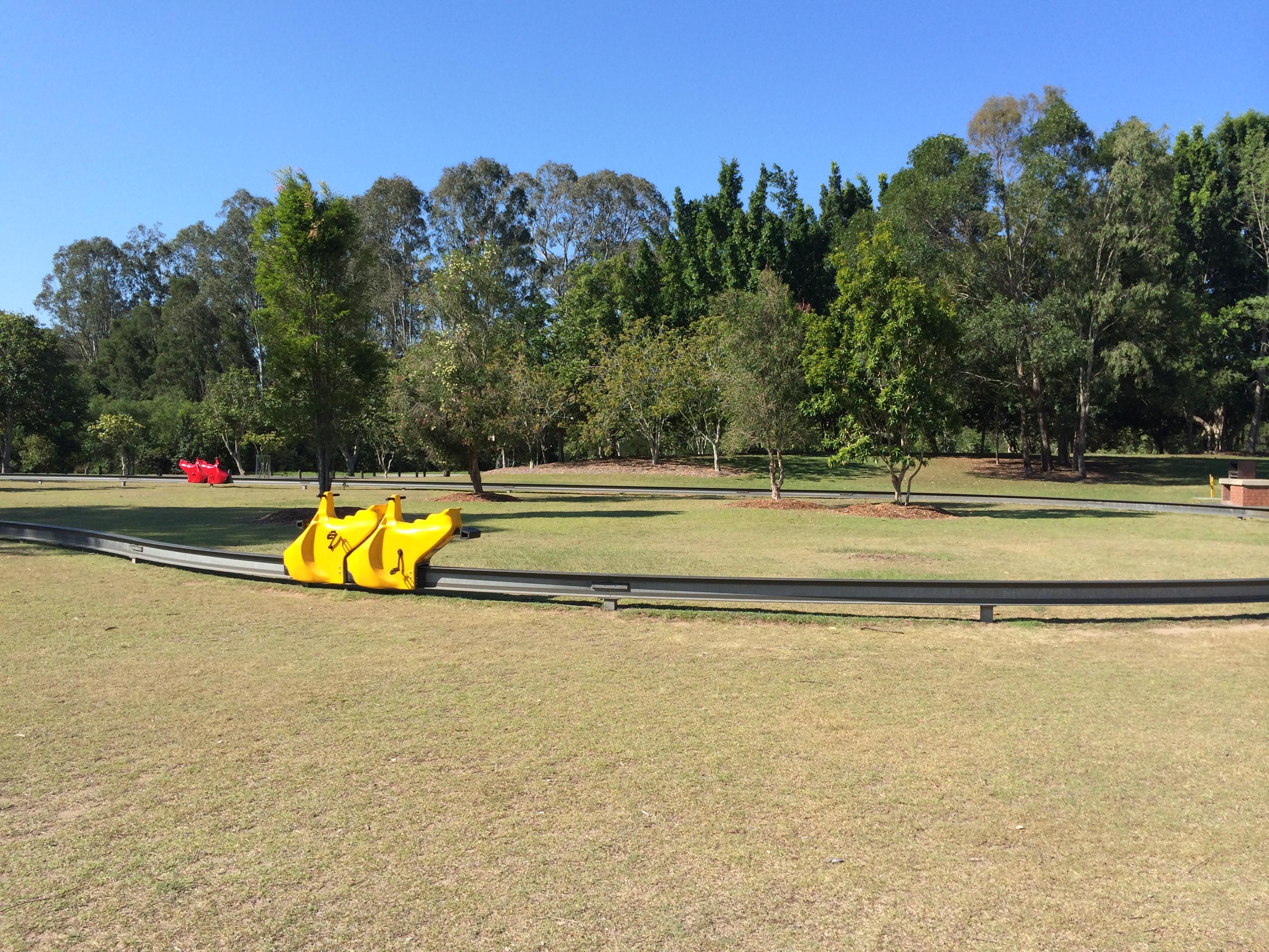 Our day enjoying the green lawns at Alexander Clark Park, Loganholme © GreenSocks