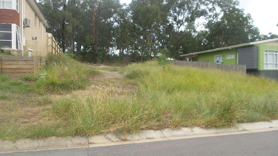 """Before"" photo of Moggill lawn care job © GreenSocks"