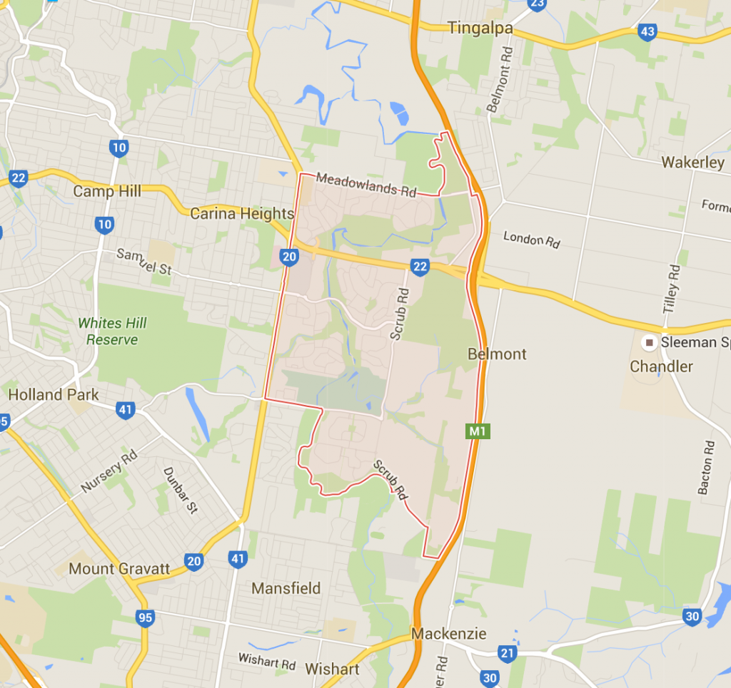 Carindale lawn care on a Google Map