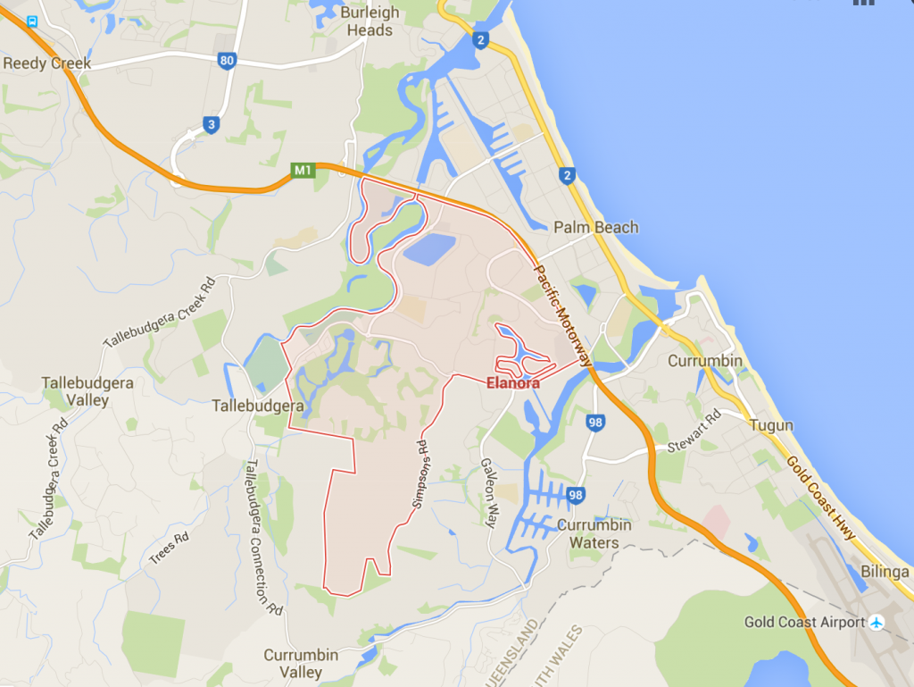 Elanora lawnmowing on a Google Map