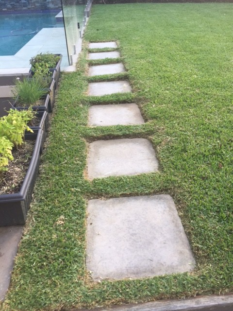 """After"" photo of Lane Cove lawn mowing and edging job © GreenSocks"