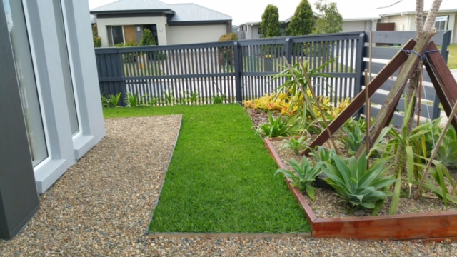 """Before"" photo of Brightwater lawn mowing © GreenSocks"
