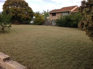 After Lachlan Andrews' awesome Woodridge lawn mowing job © GreenSocks