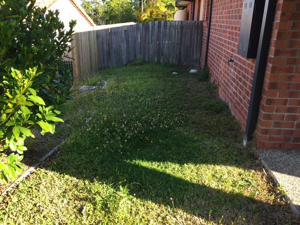 """""""Before"""" photo of Merrimac lawn mowing services © GreenSocks"""