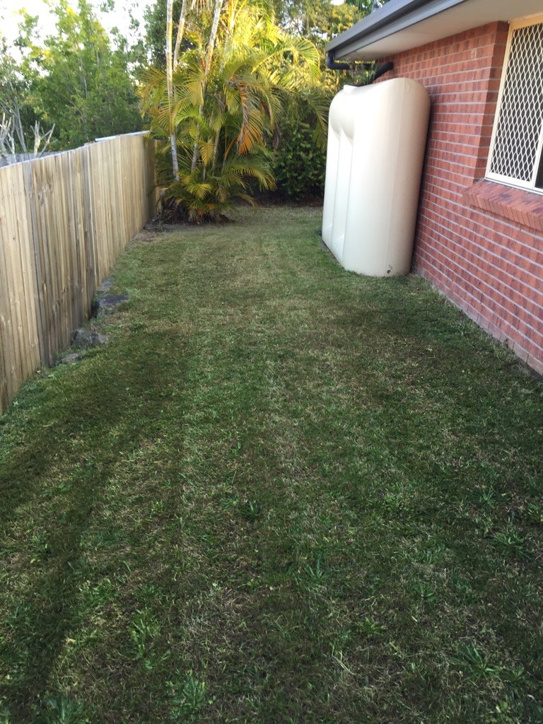 """""""After"""" photo of Merrimac lawn mowing services © GreenSocks"""