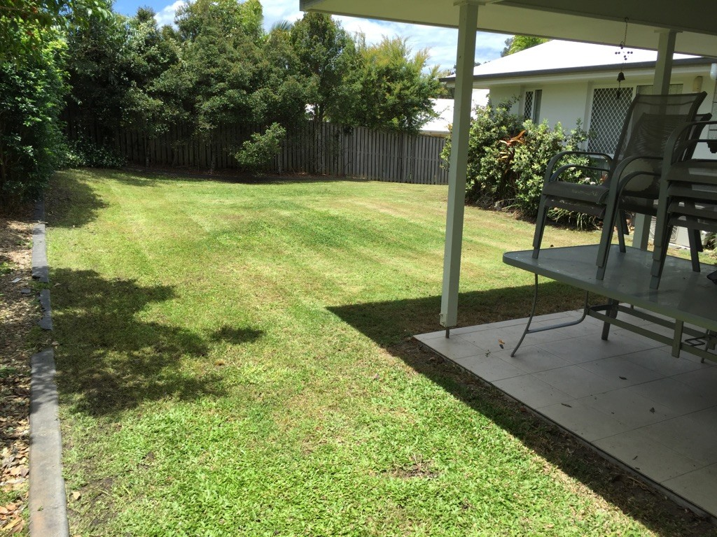 """After"" photo of lawn mowing in Coomera © GreenSocks"