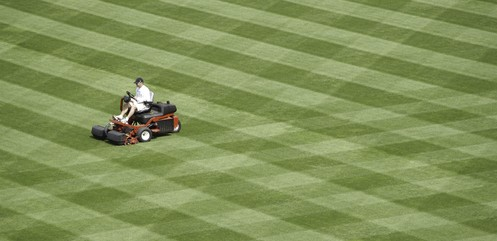 Lawn striping will add to how much your lawn mowing costs